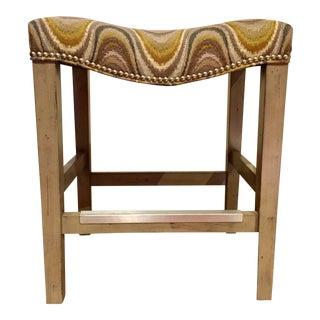 Upholstered Saddle Seat Counter Stool