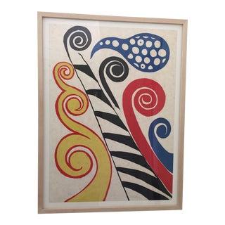 """Alexander Calder """"Fiesta"""" Litograph"""