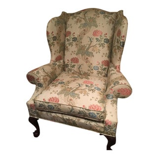 Kindle Floral Motif Wing Chair