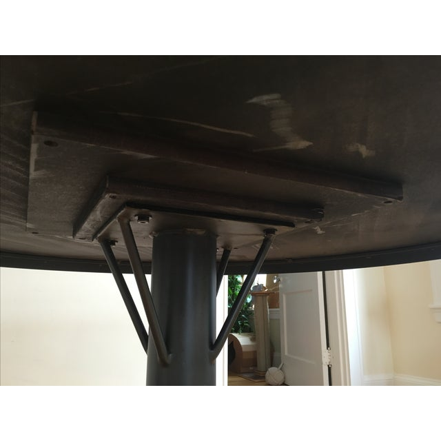 Magnussen Walton Iron & Wood Pedestal Table - Image 6 of 7