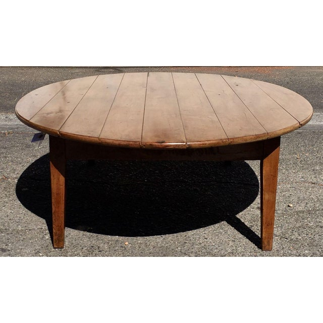 French Wood Coffee Table: Antique Cherry Wood French Country Coffee Table