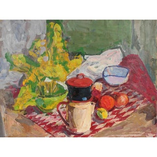 Gerald Wasserman Still Life with Coffee and Fruit