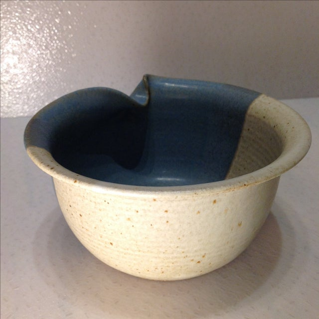 Vintage Handmade Pinched Bowl - Image 4 of 7