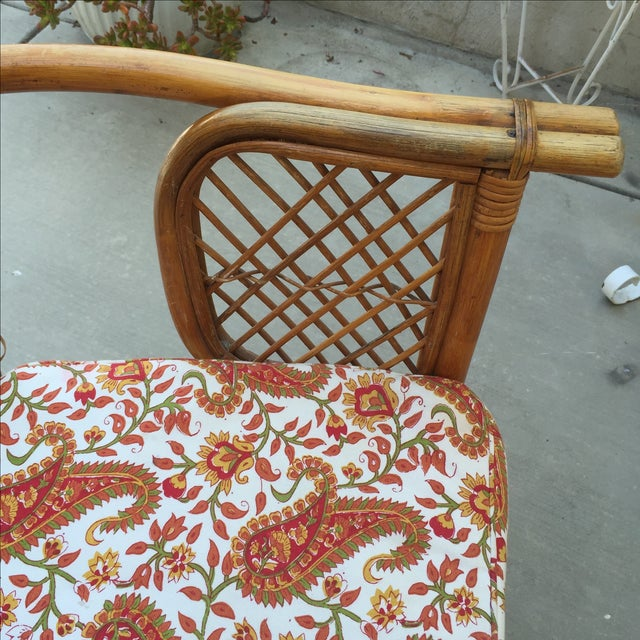 Vintage Rattan Bamboo Chair - Image 11 of 11