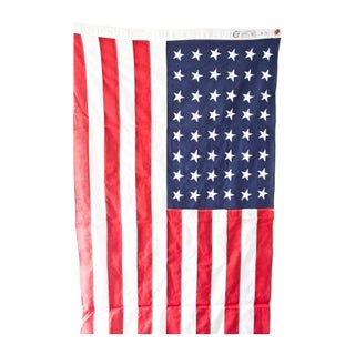 Vintage Memorial Star USA Flag