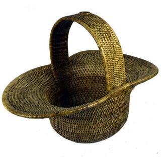 Burmese Hand Woven Hat Basket
