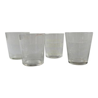 Group of Pre Prohibition Etched Shot Glasses - Set of 4