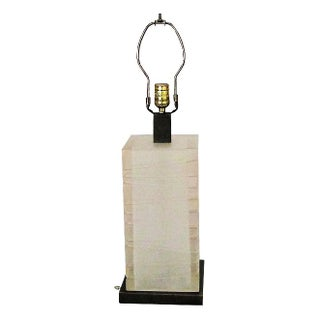 Geometric 1970's Frosted Lucite Lamp