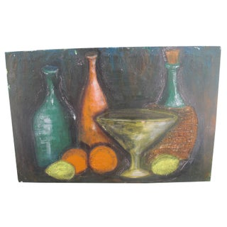 Mid-Century Fruit Still Life Painting