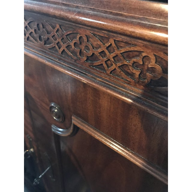Vintage Century Cherry Wood Bar Armoire Cabinet - Image 5 of 11