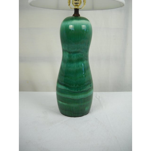 1960s Mid-Century Drip Glaze Lamp - Image 5 of 7
