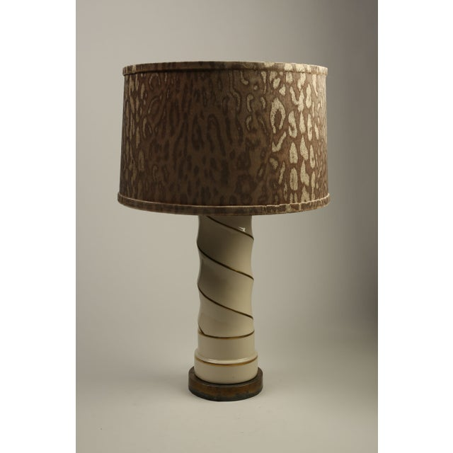 Hollywood Regency Swirl Lamps - A Pair - Image 2 of 4