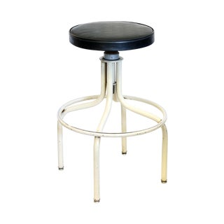 Off White Vintage Metal Stool