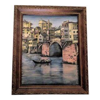 E. M. Johnson Venice Italy Oil on Canvas Painting