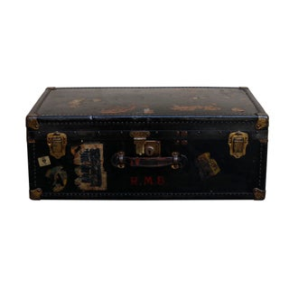 Oshkosh Black Steamer Trunk