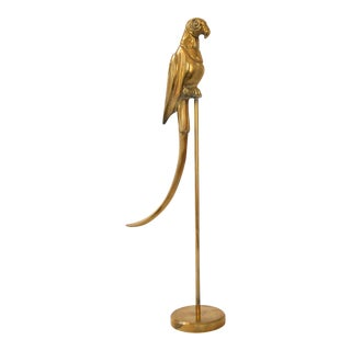 Brass Parrot on Stand Figurine