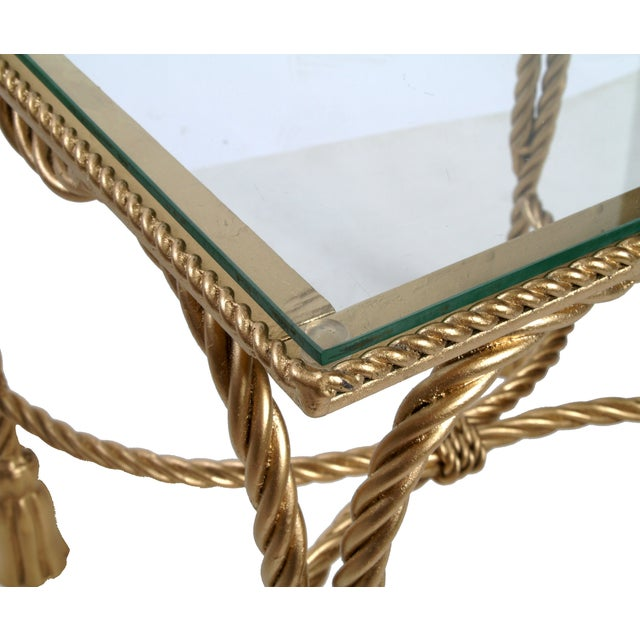 Decorative Gilt Metal Nesting Tables - a Pair - Image 8 of 9