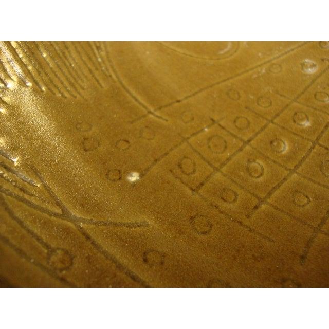 Image of 1955 Signed Studio Pottery Fish Motif Bowl