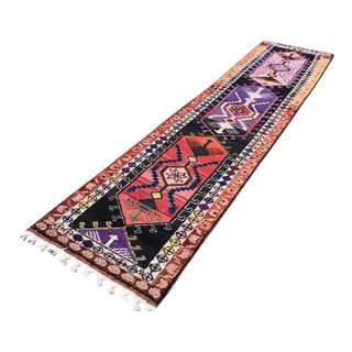 Vintage Turkish Runner Rug - 3′2″ × 11′6″