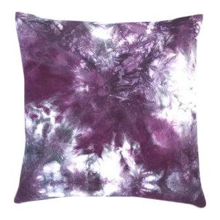"Purple Marbled Black Cherry Boho Pillow Cover - 20"" x 20"""