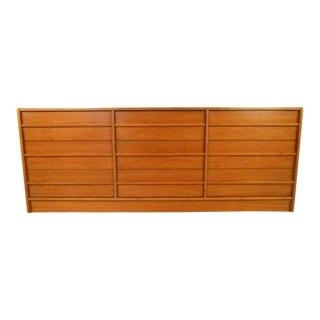 Vintage Modern Danish Teak Nine Drawer Dresser