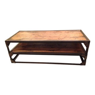 Two-Tiered Industrial Coffee Table