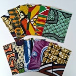 Image of African Wax Fabric Greeting Cards - Set of 10