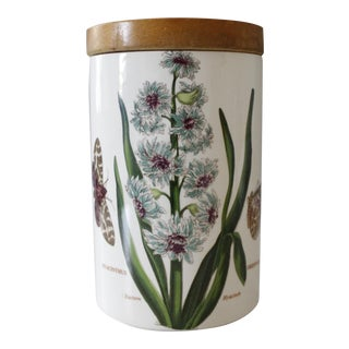 Vintage Portmeirion The Botanic Garden Eastern Hyacinth Jar Canister Ceramic