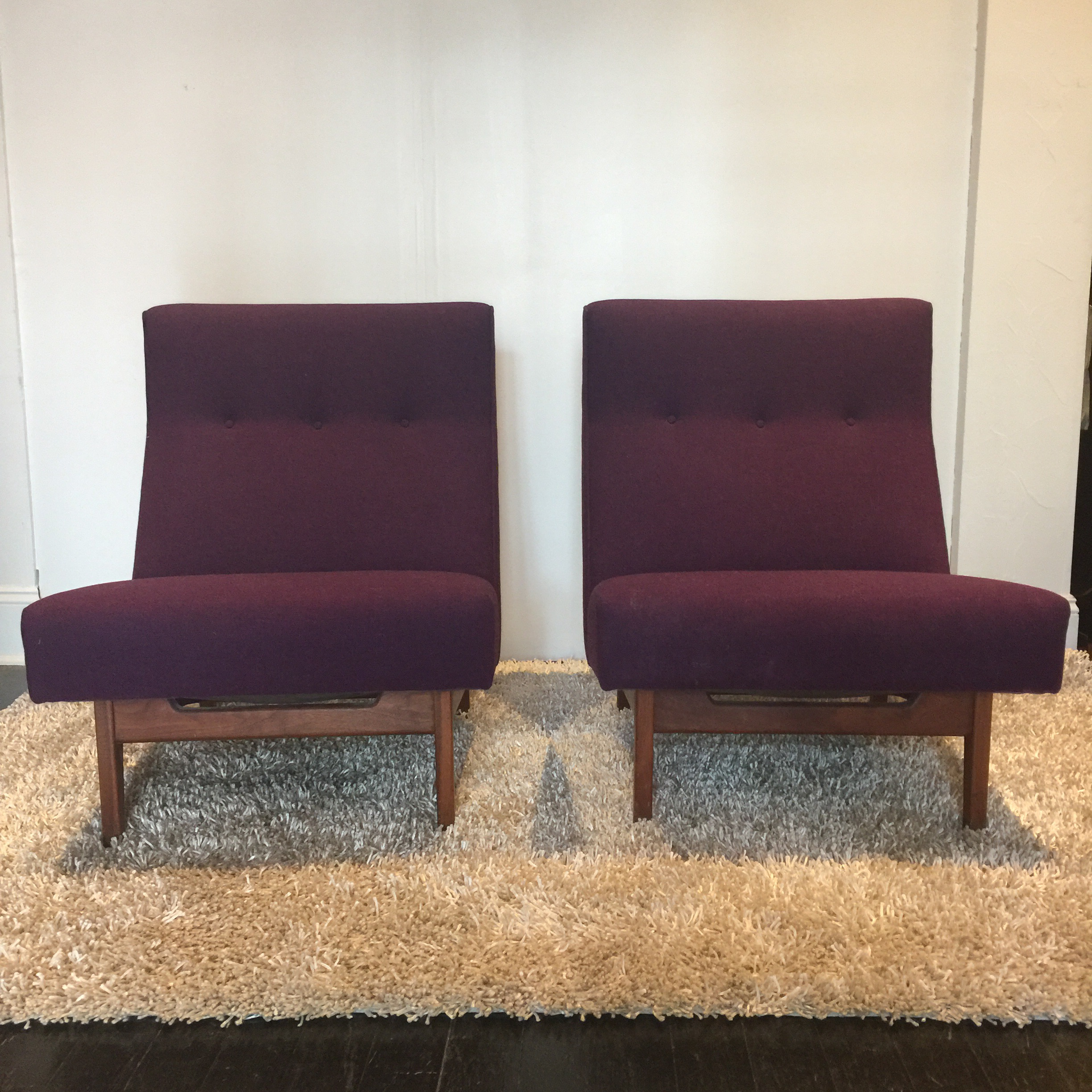 Jens Risom Lounge Chairs   A Pair   Image 2 Of 3