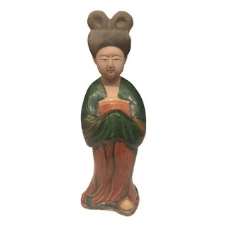 Chinese Tang Dynasty Court Lady Pottery Figure