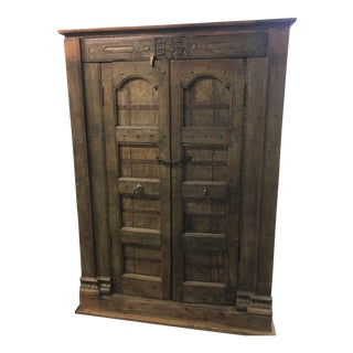 Handmade Antique Wooden Armoire