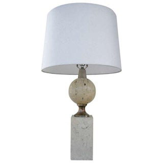 Maison Barbier Travertine Table Lamp