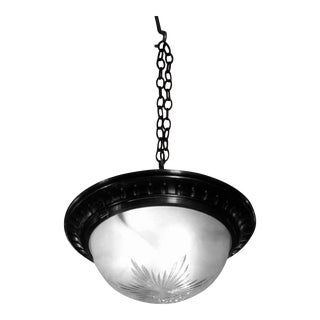 Etched Frosted Glass Flush Mount Light