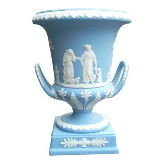 Wedgwood Blue Jasperware Urn