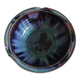 Studio Pottery Inidgo Drip Glaze Bowl