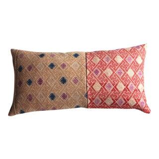 Hamong Lumbar Ochre & Pink Pillow