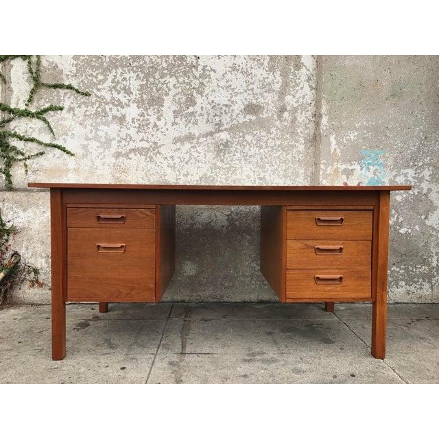 Danish Modern Executive Desk - Image 2 of 3