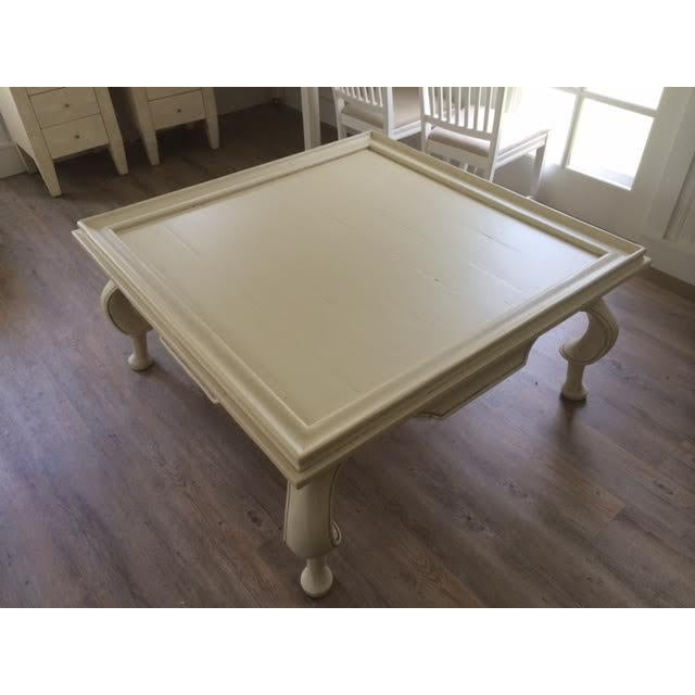 Oversized Tan Coffee Table - Image 2 of 6