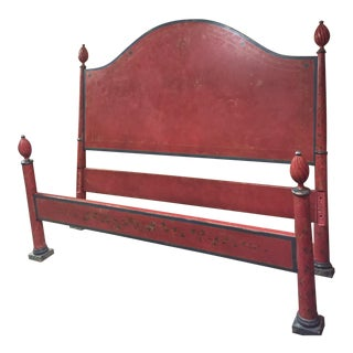 Painted California King Headboard and Footboard Italian Bed