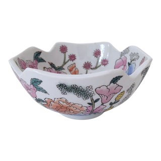Hand-Painted Floral Ceramic Bowl