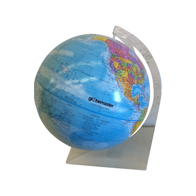 Globemaster 12 Inch World Globe With Acrylic Stand - Image 1 of 4