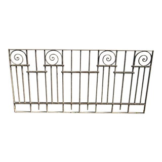 Antique Victorian Iron Gate Window Garden Fence Architectural Salvage Door #022