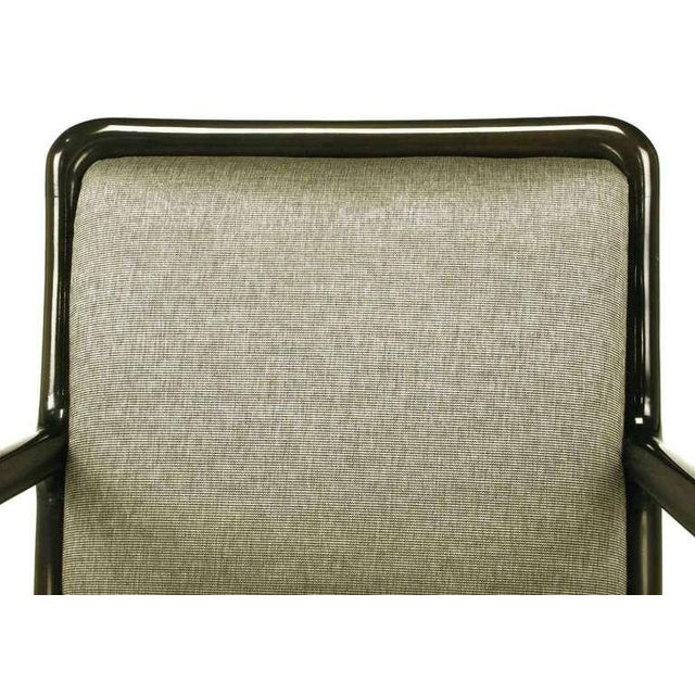 Four Martin Brattrud Ebonized & Upholstered Arm Chairs. - Image 8 of 9
