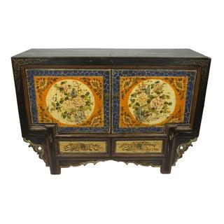 Antique Floral Gansu Cabinet