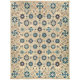 """New Hand-Knotted Suzani Rug - 8'1"""" X 10'6"""""""