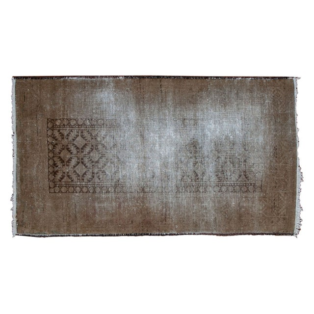 "Distressed Belouch Rug - 3'1"" x 5'6"" - Image 1 of 5"