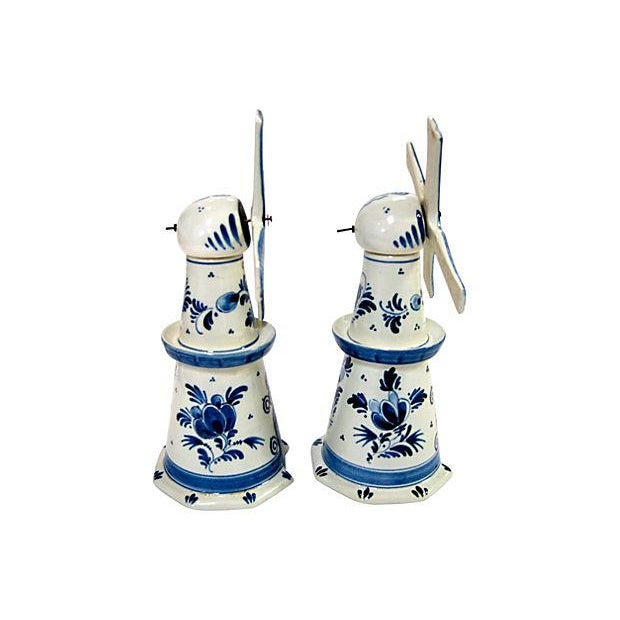 Delft Windmill Decanters - A Pair - Image 3 of 4