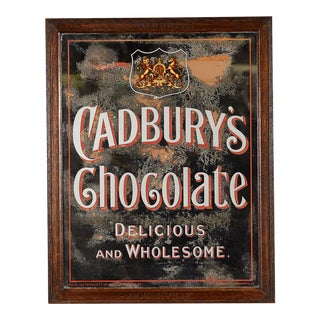 Cadbury's Chocolate Advertising Mirror Sign Circa 1900s