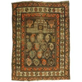 """Distressed Antique Caucasian Prayer Rug - 3' x 4'1"""""""