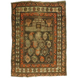 Distressed Antique Caucasian Prayer Rug - 3' x 4'1""